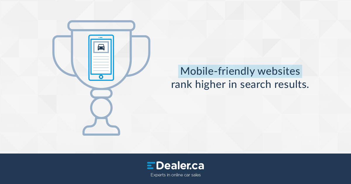 Mobile friendly websites rank higher in search results