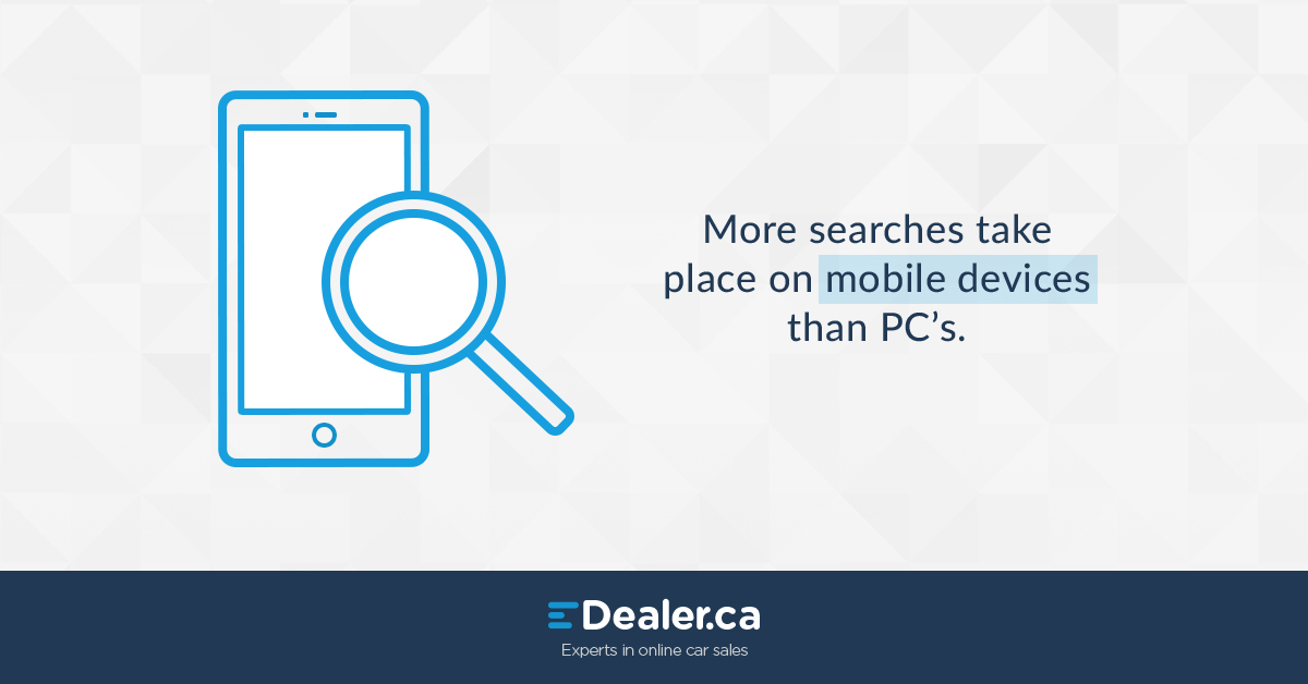 More searches take place on mobile devices than PC's