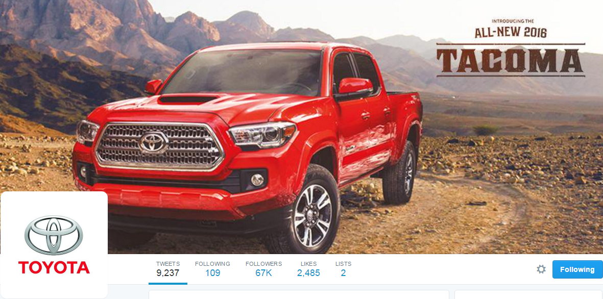 @ToyotaCanada Twitter profile picture and cover photo