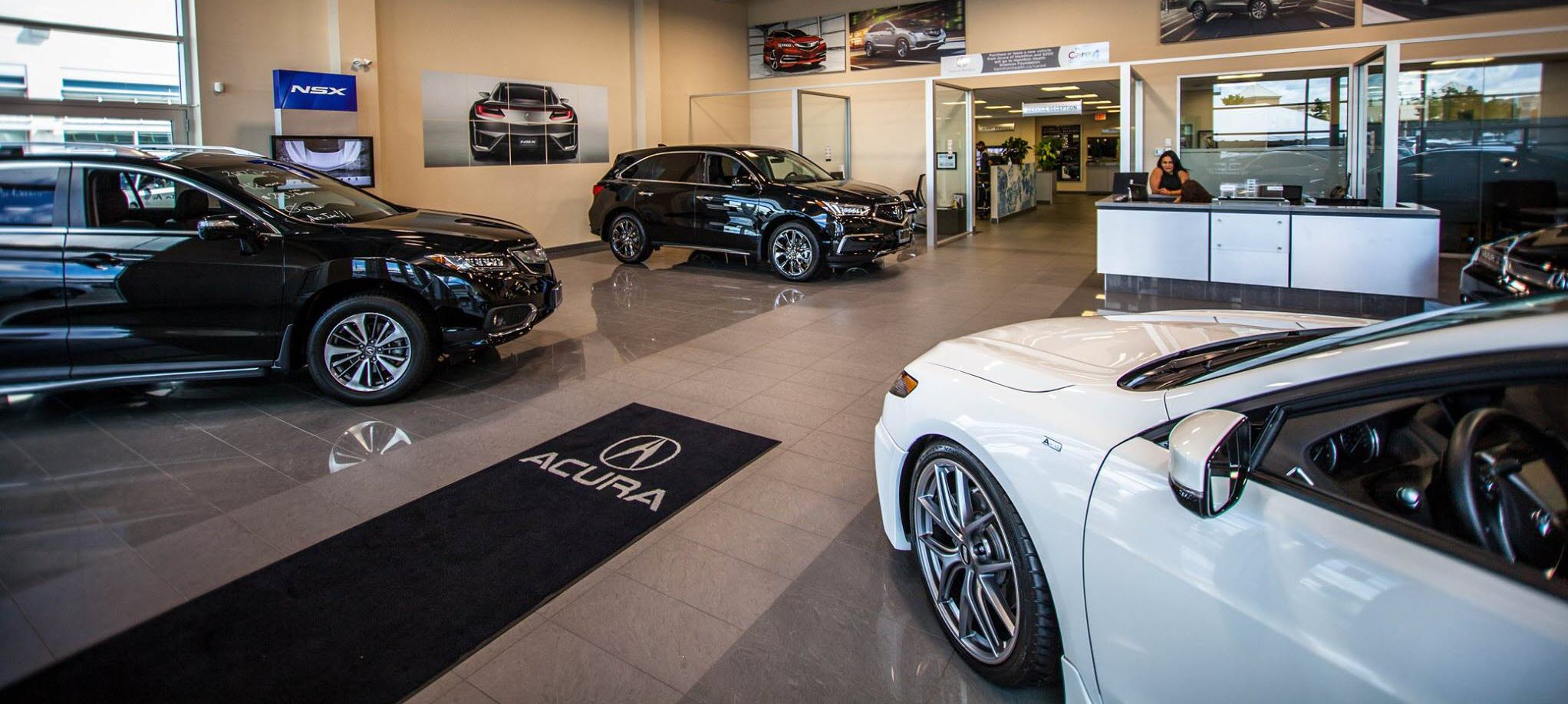 Inside Hamilton's premier Acura dealership.