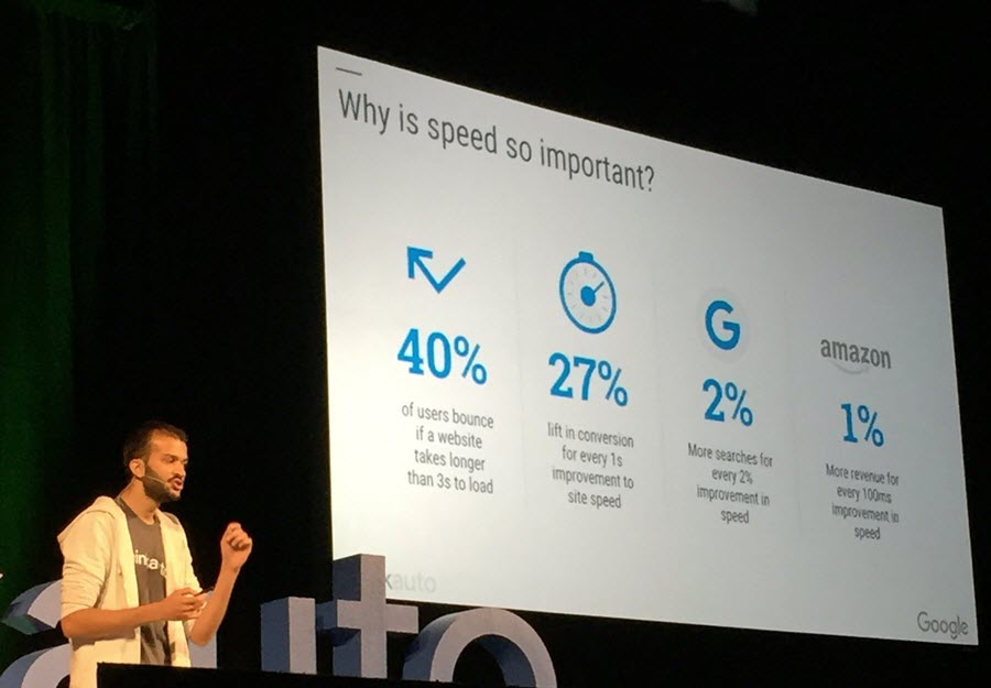 Fareed Siddiqui, Account Manager at Google explains the impact of mobile website pagespeed at Think Auto 2016.
